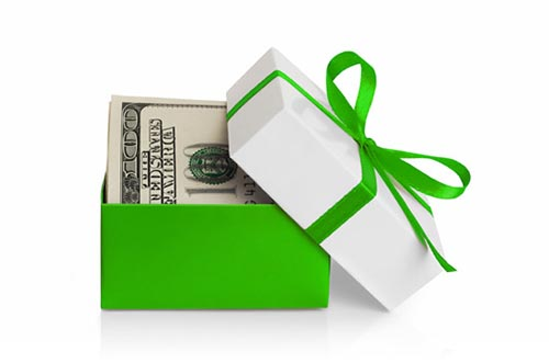 give financial gifts to living in liberty